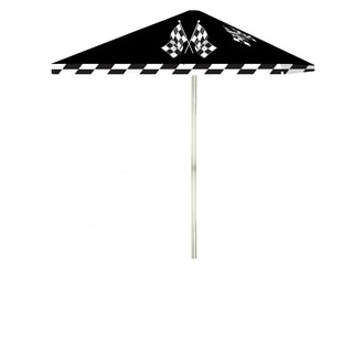 Best of Times Checkered Racing Flags 8-foot Patio Umbrella