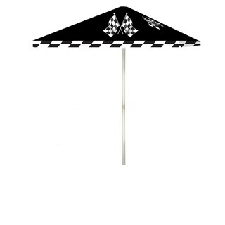Best of Times Checkered Racing Flags 8-foot Patio Square Umbrella