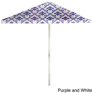 Best of Times Garden Party 8-foot Patio Umbrella (Option: Purple & White)