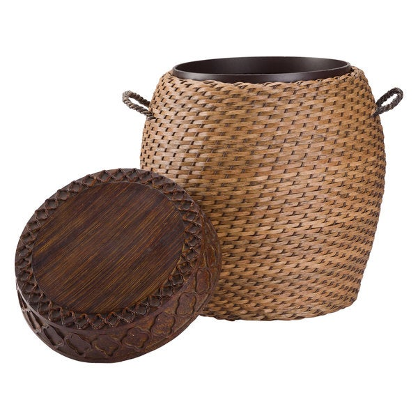 Shop Tanjay Wicker Drum Side Table