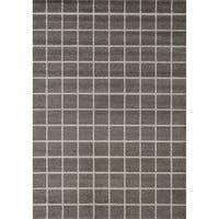 Camilla Charcoal/ Cream Tile Rug (7'10 x 10'10)