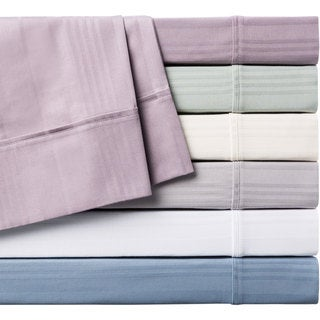 Home Fashion Designs 400 Thread Count Cotton Variegated Stripe Luxury Sheet Set