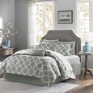Madison Park Essentials Almaden Reversible 9-piece King Size Bed Set in Grey (As Is Item)
