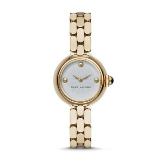 Marc Jacobs Women's Courtney White Dial Gold-Tone Stainless Steel Bracelet Watch