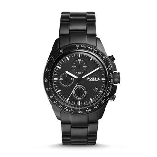 Fossil Men's CH3028 Sport 54 Chronograph Black Dial Black Stainless Steel Bracelet Watch