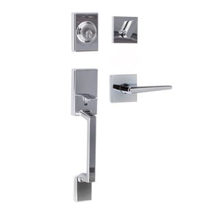 Sure-Loc Modern Series Stockholm Front Door Polished Chrome Handle Set with Interior Lever