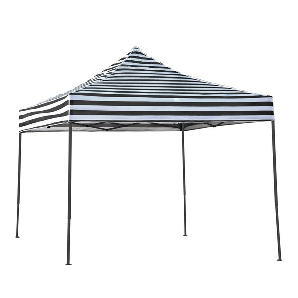 Trademark Innovations Lightweight and Portable 10x10 Canopy Tent Set