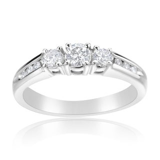 Andrew Charles 14k White Gold 1/2ct TDW Diamond 3-stone Ring
