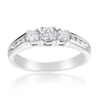Andrew Charles 14k White Gold 1/2ct TDW Diamond 3-stone Ring (H-I, SI2-I1)