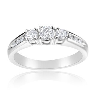 Andrew Charles 14k White Gold 1/2ct TDW Diamond 3-stone Ring