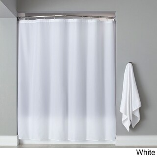 Extra Long Heavyweight Mildew-Resistant Vinyl Shower Curtain Liner (Option: WHITE)