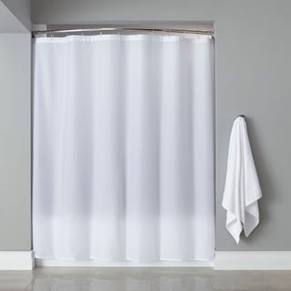 "Extra Long Heavyweight Mildew-Resistant Vinyl Shower Curtain Liner - 72"" x 84"""