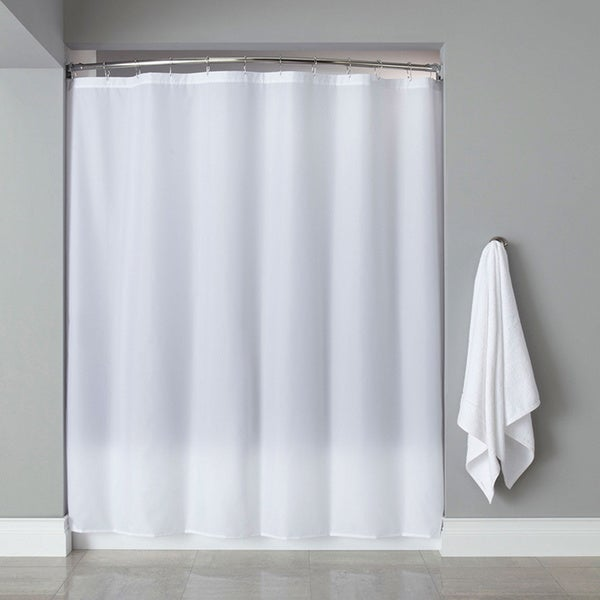 Extra Long Heavyweight Mildew Resistant Vinyl Shower Curtain Liner