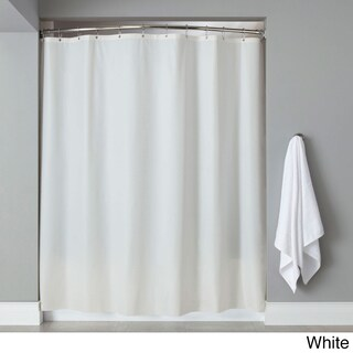 72-inch Mildew-Resistant 10-Gauge Vinyl Shower Curtain Liner (Option: White)