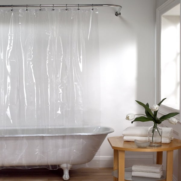 72 Inch Mildew Resistant 10 Gauge Vinyl Shower Curtain Liner