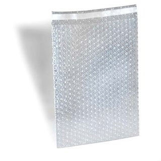 600 8 X 15.5 inch Bubble Out Bags with 1-inch Lip and Tape Self Seal Bubble Pouches