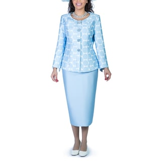 Giovanna Collection Women's 2-piece Polka Dots Skirt Suit