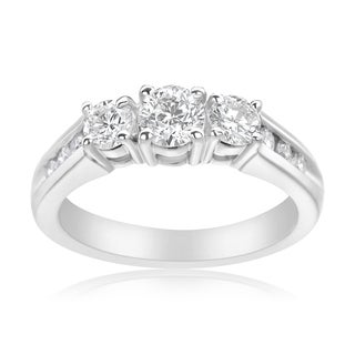 Andrew Charles 14k White Gold 1ct TDW 3-stone Diamond Ring