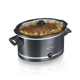 Hamilton Beach Black 8 Quart Slow Cooker