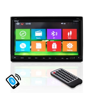Pyle PLDNB78i Headunit Receiver 7-Inch Stereo GPS Navigation/ Bluetooth/ Touch Screen/ Double DIN DVD/CD/MP3/MP4/USB /SD/AMFM