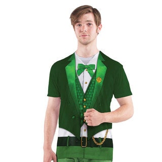 Lucky Leprechaun Faux Real Men's Tee Shirt