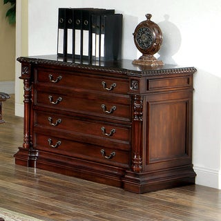 Furniture of America Marsa Traditional Cherry 2-drawer File Cabinet
