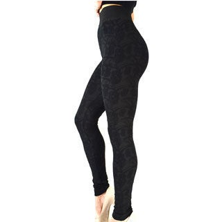 Le Nom Wome'ns Lace Pattern Leggings (One Size Fits Most)