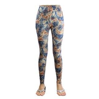 Le Nom Women's Soft Touch Cheetah Leggings