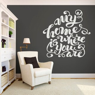 My Home Is Where You Are Large Wall Decal