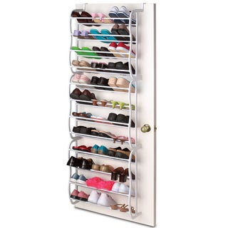 12-Tier Over The Door 36 Pair Shoe Rack