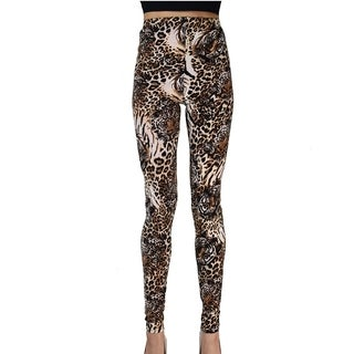 Le Nom Tiger Print Soft Feel Leggings (One Size Fits Most)