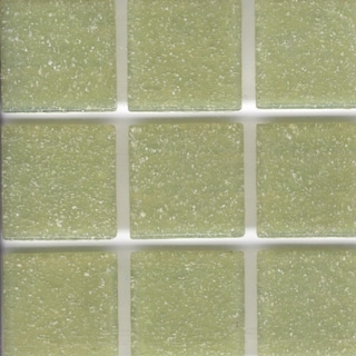Brio Pear Green Glass 3/4 Inch Mosaic Tile