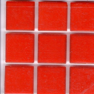 Brio Paprika Red Glass 3/4 Inch Mosaic