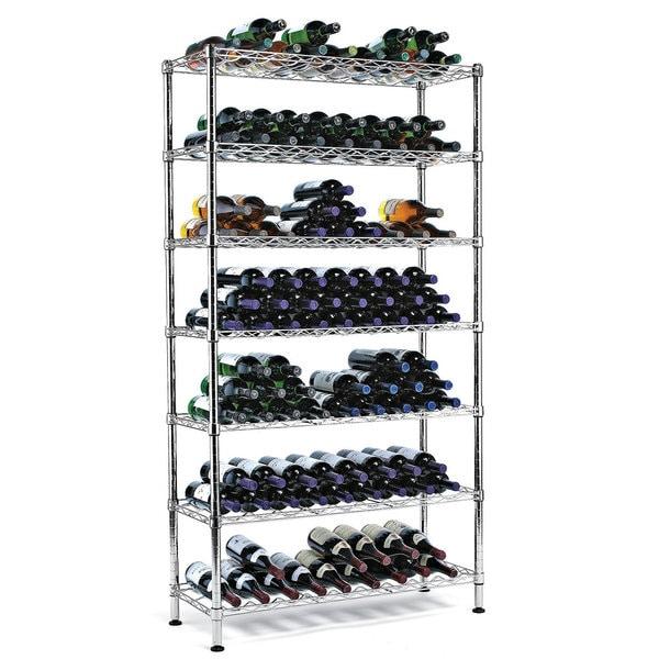 Steel Pantry Wine Rack (126 Bottles)