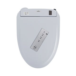 Toto Connect+ WASHLET S350e Elongated Bidet Toilet Seat with Auto Open and Close and ewater+ SW584T20#01 Cotton White