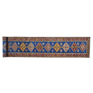Super Kazak Xl Runner Hand-knotted Pure Wool Oriental Runner Rug (2'7 x 17')