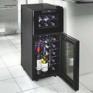 Silent 21 Bottle Dual Zone Touchscreen Wine Cooler|https://ak1.ostkcdn.com/images/products/11488022/P18441578.jpg?impolicy=medium