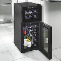 Silent 21 Bottle Dual Zone Touchscreen Wine Cooler