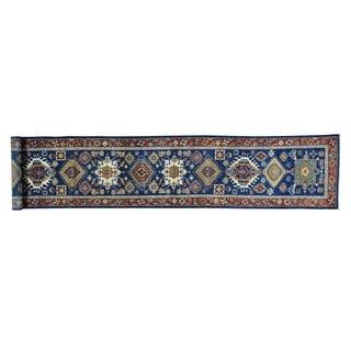 Handmade Antiqued Karajeh Runner Pure Wool Oriental Runner Rug (2'6 x 13'7)