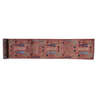Willow and Cypress Tree Design Xl Runner Handmade Runner Rug (2'6 x 16'2)