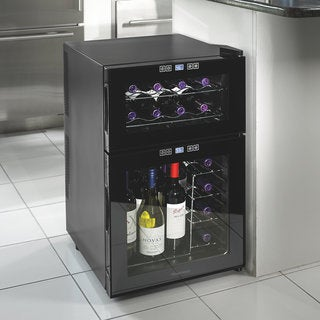Silent 24 Bottle Dual Zone Touchscreen Wine Cooler