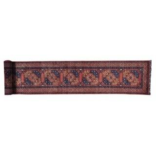 Afghan Ersari Elephant Feet Xl Runner Handmade Runner Rug (2'7 x 18'5)