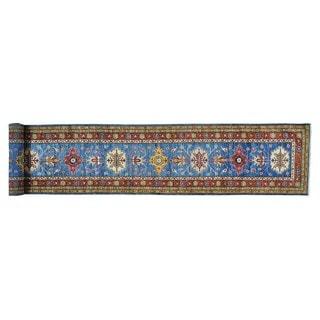 Hand-knotted Pure Wool Tribal Super Kazak Xl Runner  Rug (2'6 x 18'9)