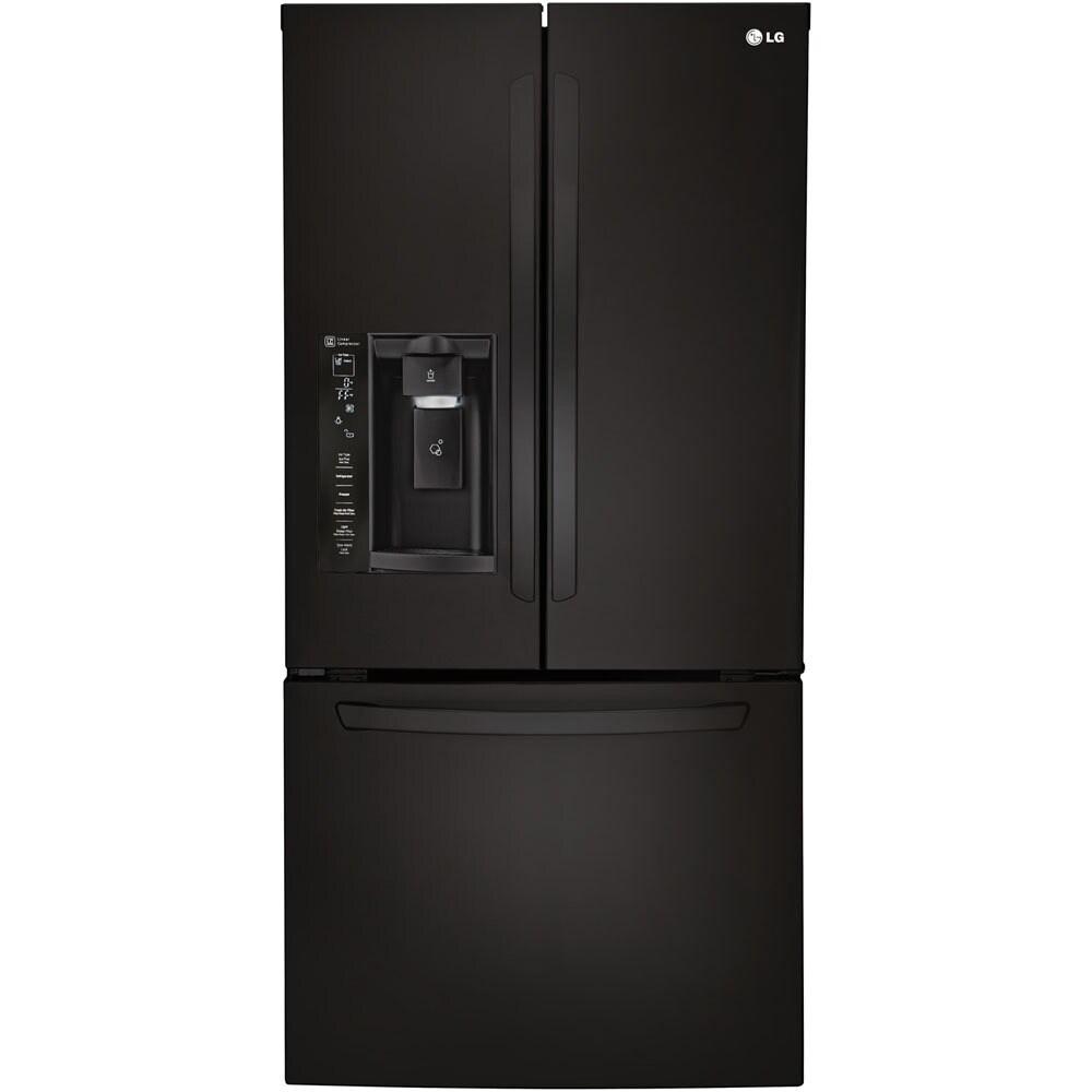 LG 33-inch 24-cubic-foot French Door Refrigerator (Black)...