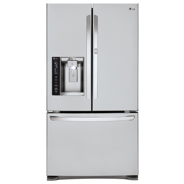Lg 36 inch 26 6 cubic foot french door refrigerator free for 18 cubic foot french door refrigerator