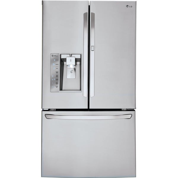 Lg 36 inch 29 6 cubic foot french door refrigerator for 18 cubic foot french door refrigerator