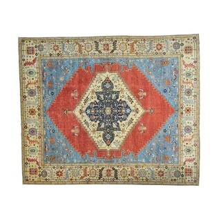 Antiqued Bakshaish Natural Dyes Handmade Oversize Rug (11'9 x 14'2)