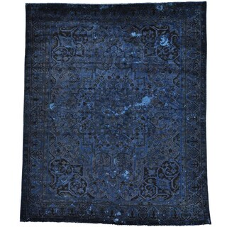 Overdyed Persian Bakhtiari Worn Spots Handmade Rug (10'2 x 12'2)