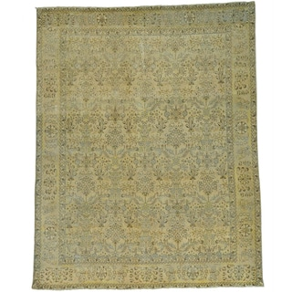 Persian Kerman Semi Antique Hand-knotted Overdyed Rug (9'9 x 12'4)