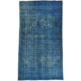 Overdyed Persian Bakhtiari Distressed Handmade Rug (7' x 12'9)